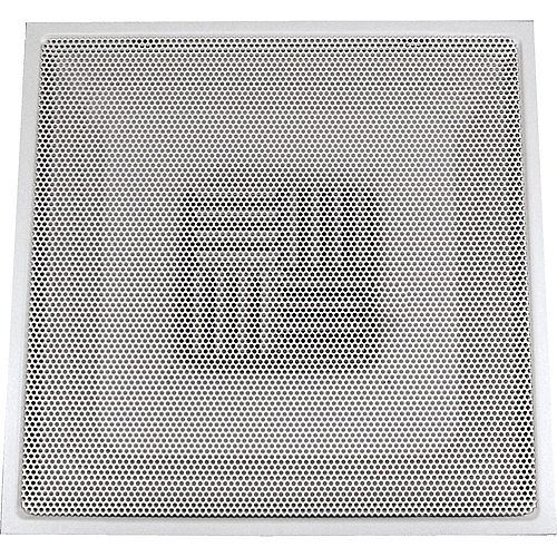 24 in. x 24 in. x 14 in Collar White Drop Ceiling T-Bar Perforated Adj. Blade Steel Supply Air Register