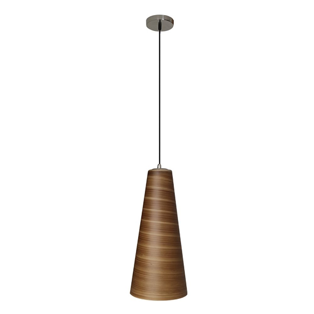 Efficient Lighting Traditional Series 1-Light Ceiling Mount Pendant  Fixture with Brown Glass Shade and GU24 Energy Star Qualified Bulb