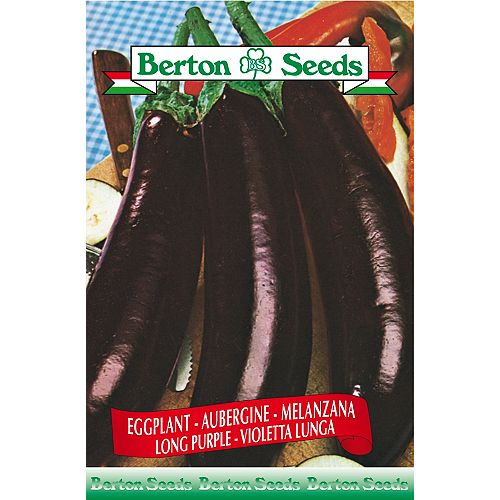 Berton Seeds Co. Limited Egg Plant Long Purple Seeds