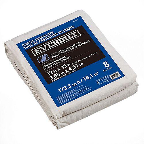 12 ft. x 15 ft. 227g Canvas Drop Cloth