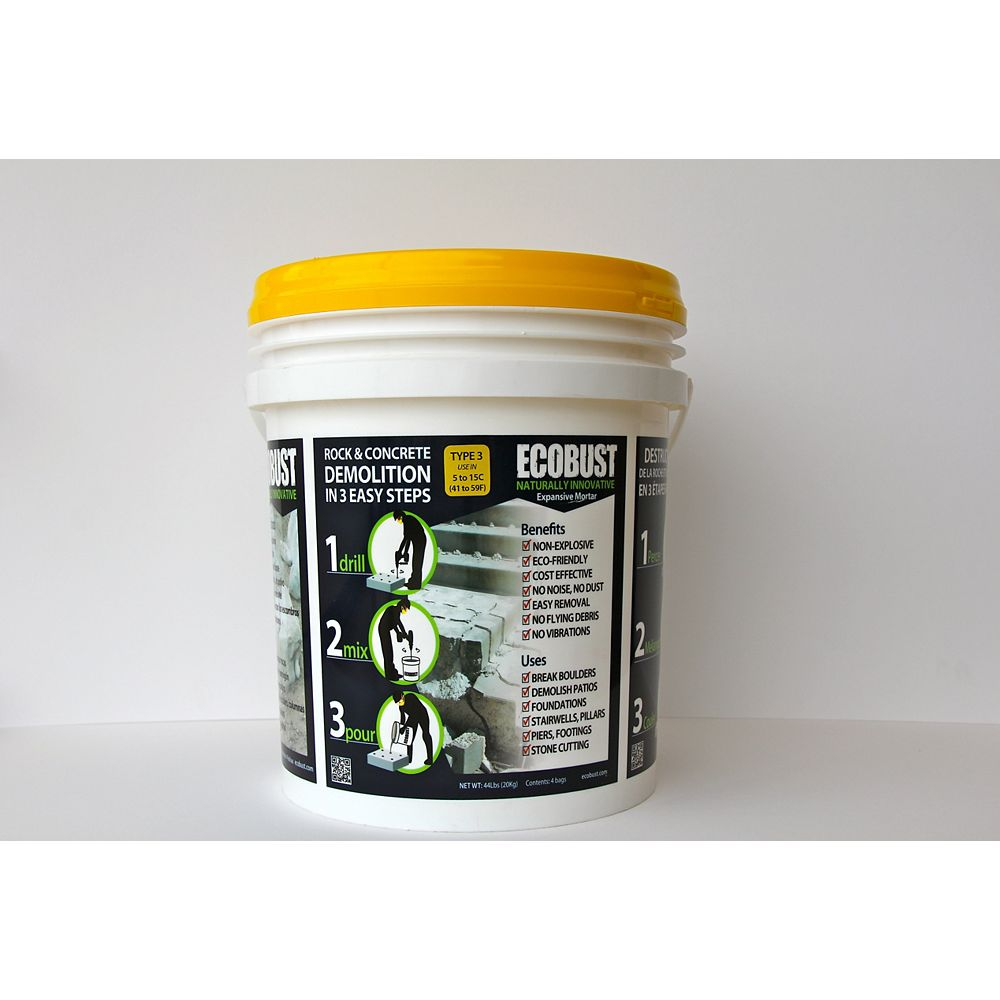 ECOBUST TYPE 3 (5 to 15C) Expansive Mortar - 44 Lbs Pail