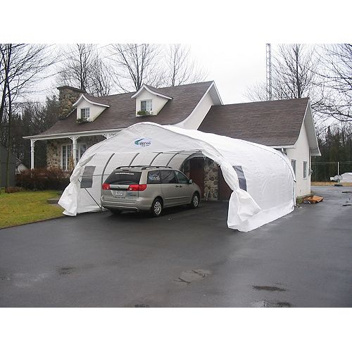 Double  Car Shelter XL20-XL20 - 20 ft. x 20 ft.