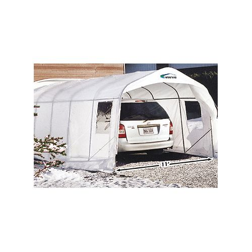 Simple Harnois Car Shelter XR11 - 11 Feet x 32 Feet