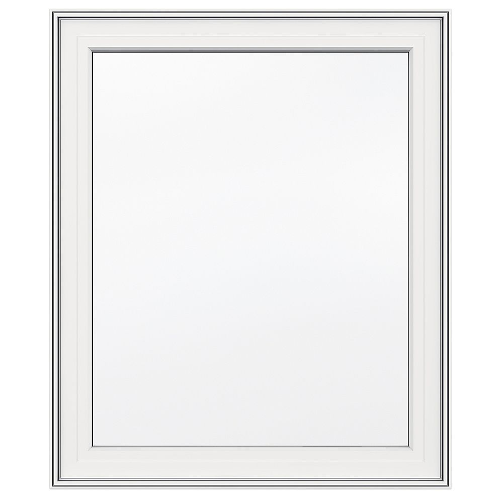 JELD-WEN Windows & Doors 30-inch x 36-inch 5000 Series Vinyl Left Handed Casement Window with 3 1/4-inch Frame
