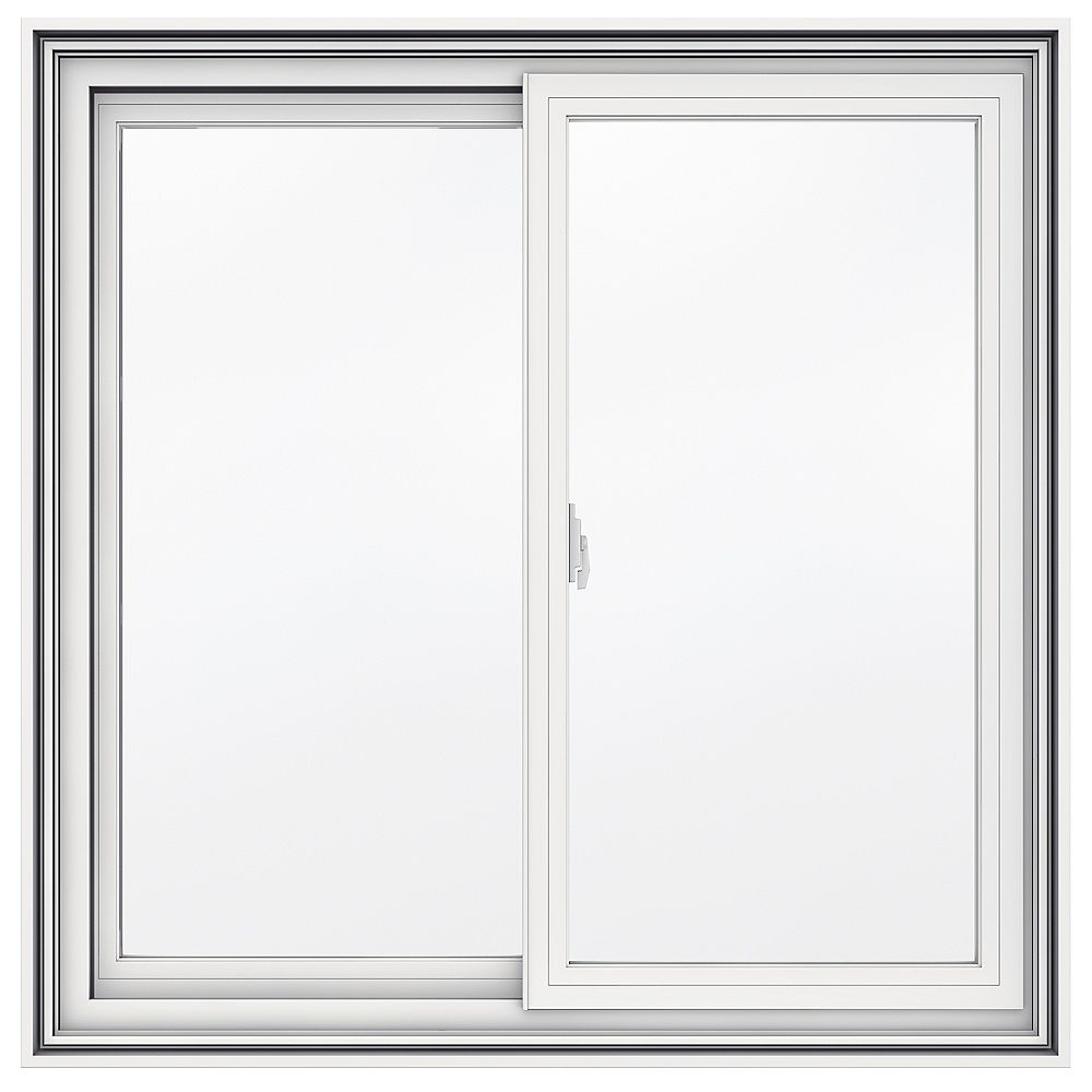 JELD-WEN Windows & Doors 36-inch x 36-inch 5000 Series Vinyl Double Sliding Window with 4 9/16-inch Frame