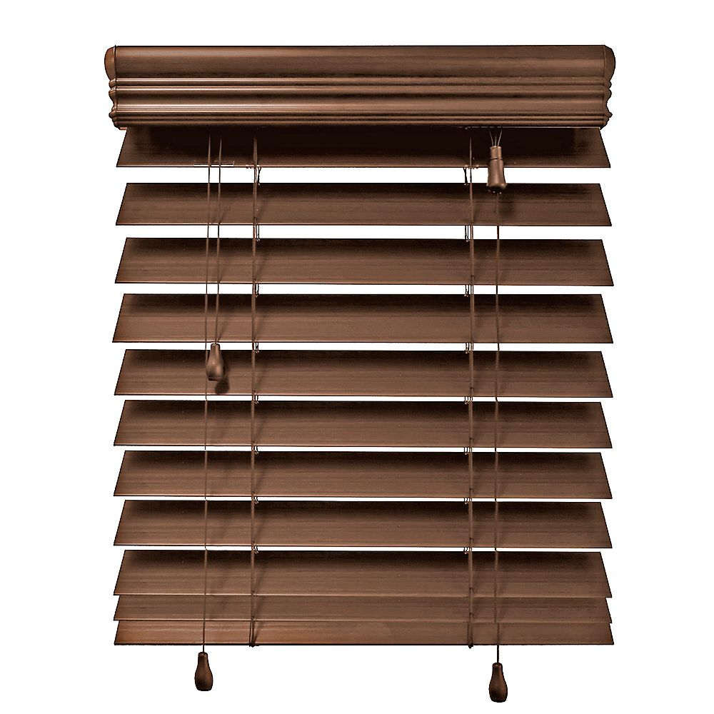 Home Decorators Collection 72x48 Maple 2 5 Inch Premium Faux Wood Blind Actual Width 71 5 The Home Depot Canada