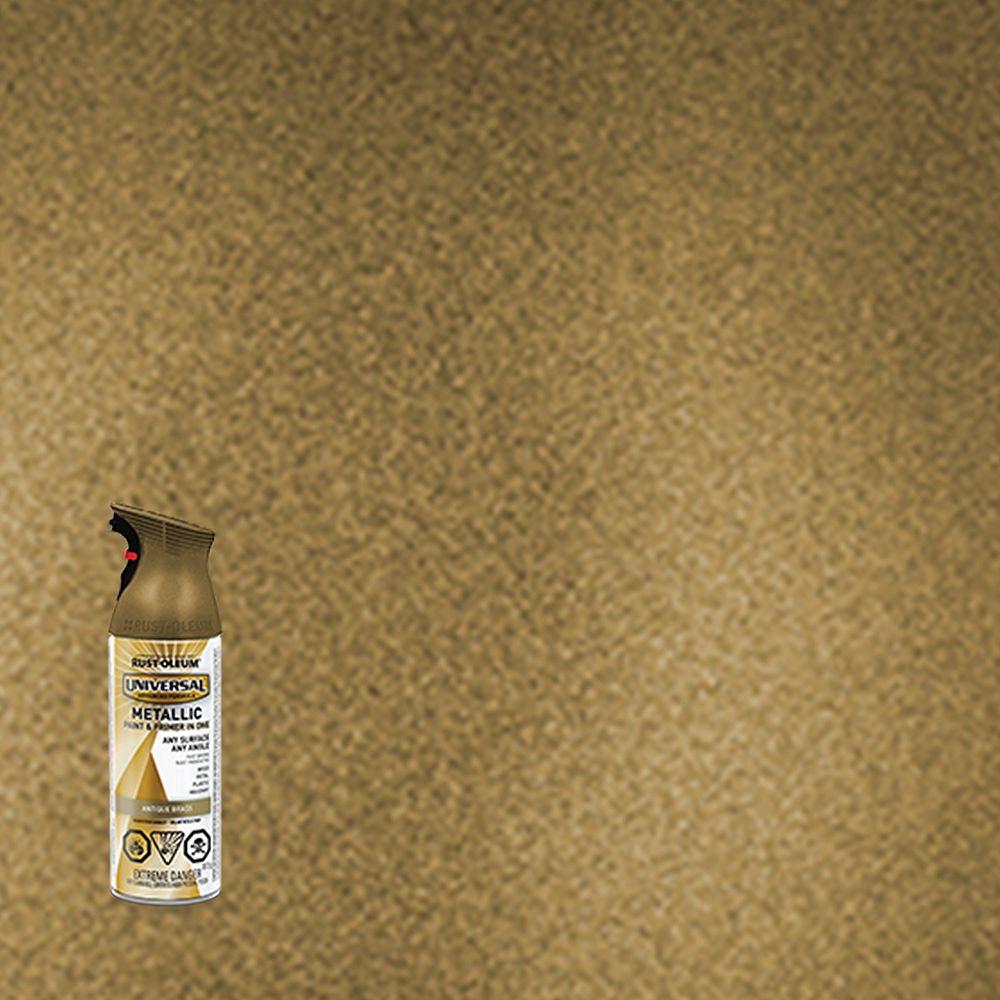 Rust-Oleum Universal Metallic Spray Paint in Antique Brass, 312 G Aerosol