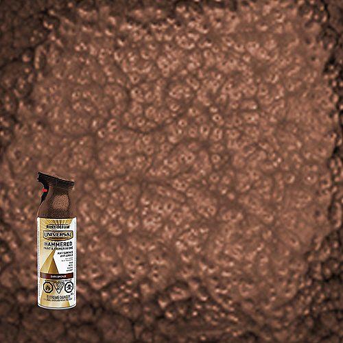 Rust-Oleum Universal Hammered Spray Paint in Dark Bronze, 340 G Aerosol