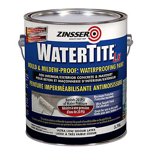 Zinsser Watertite Lx Peinture Imperméabilisante Antimoisissure