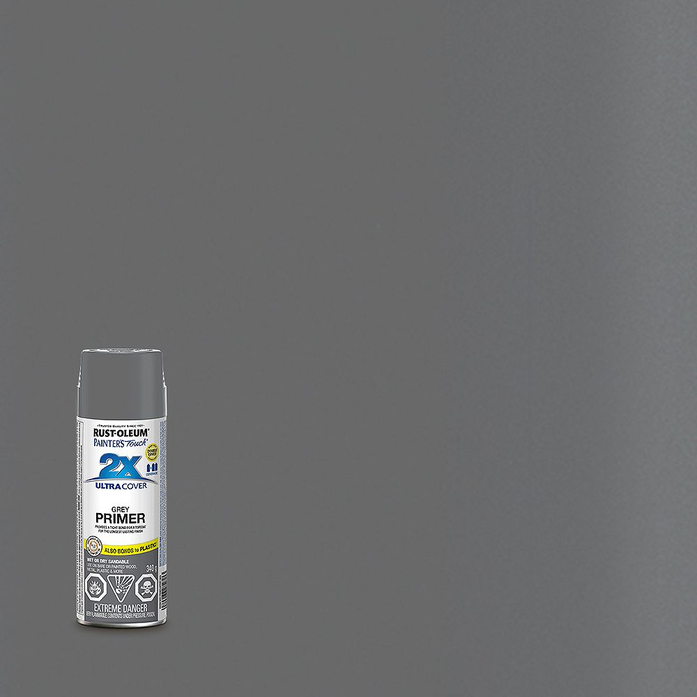 Rust-Oleum Painter's Touch 2X Ultra Cover Multi-Purpose Primer Grey, 340 G Aerosol Spray Paint