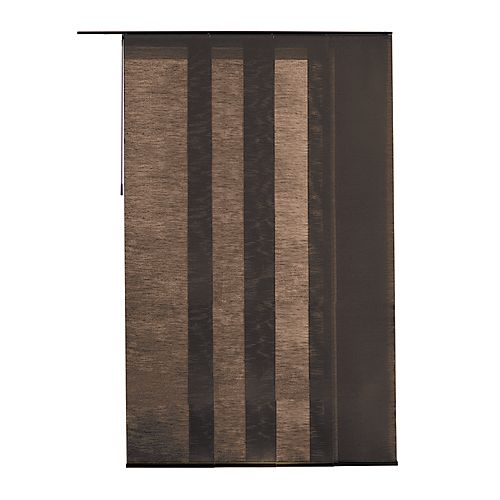 Home Decorators Collection Panel Fabric Manhattan Chestnut 21.5-inch x 106-inch (Actual width 21.5-inch)