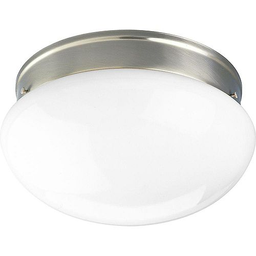 Progress Lighting Brushed Nickel 2-light Flush mount