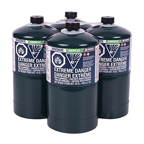 Propane Cylinder, 16 Oz (4-pack)