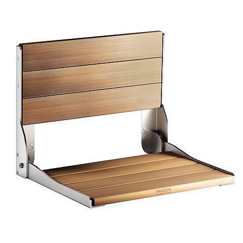 Fold Down Shower Chair in Teak Wood
