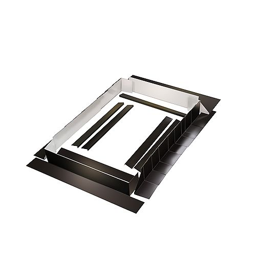 Curb Mount Flashing Kit - 28 Inch Brown