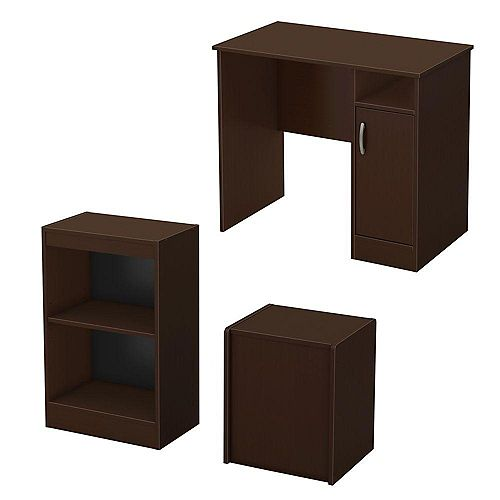 Freeport 3-Piece Office In A Box In Chocolate