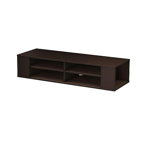 City Life Wall-Mounted Media Console in Chocolate