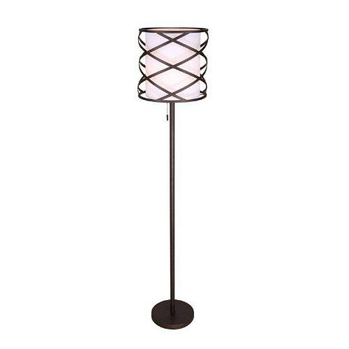CARLINA lampe de plancher en bronze huilé