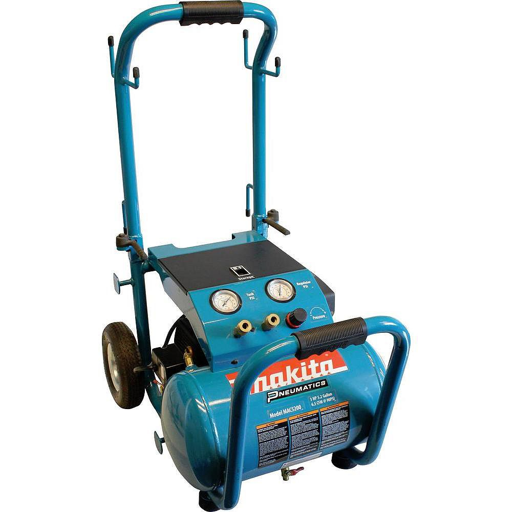 MAKITA 3.0 HP 19.7L Electric Air Compressor with Wheels and Folding Handle