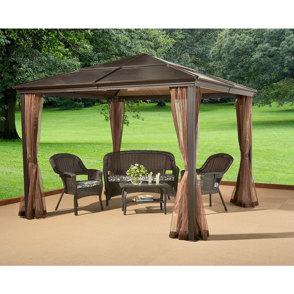 Sojag Sumatra 10 ft. x 10 ft. Sun Shelter with Mosquito Net