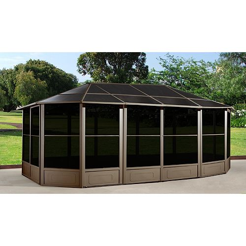 Korado 12 ft. x 18 ft. Octogonal Solarium in Light Brown