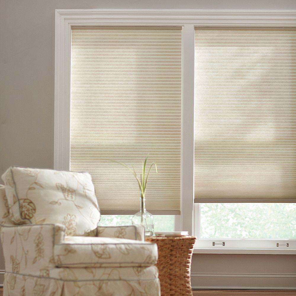 Home Decorators Collection 18 po x 72 po, Stores Cellulaires Filtre de Lumière Sans Fil Beige Naturel