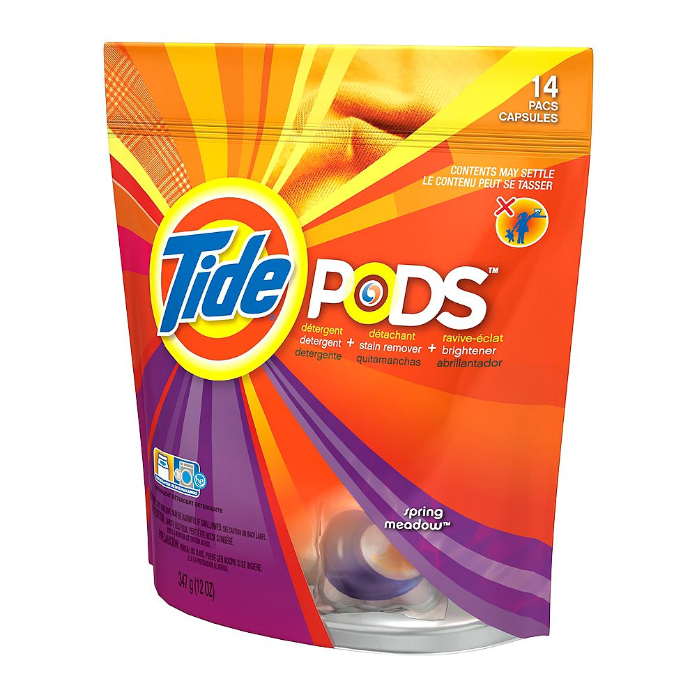Tide Pods détergent, Spring Meadow - 14 Pacs