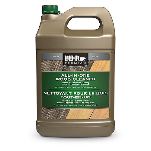 Behr Premium PREMIUM Nettoyant pour le bois tout-en-un, 3,79 L