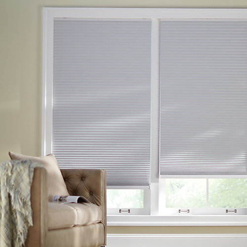 Cordless Blackout Cellular Shade Shadow White 36-inch x 48-inch (Actual width 35.625-inch)