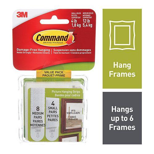 Bandes pour tableaux Command(MC), petites et moyennes, 17203C, blanc