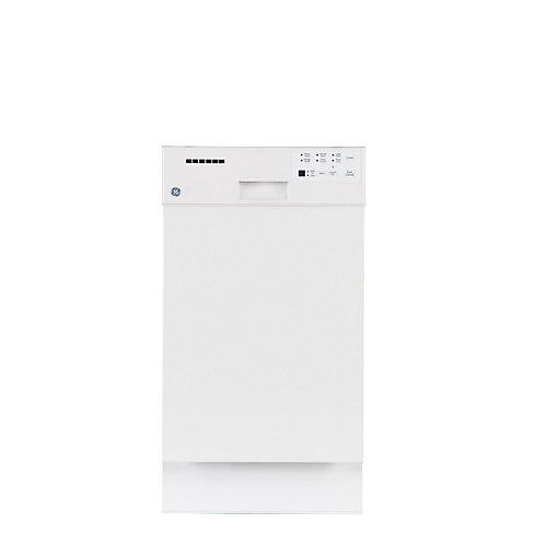 18-inch Built-In Dishwasher with Stainless Steel Tub in White - ENERGY STAR®