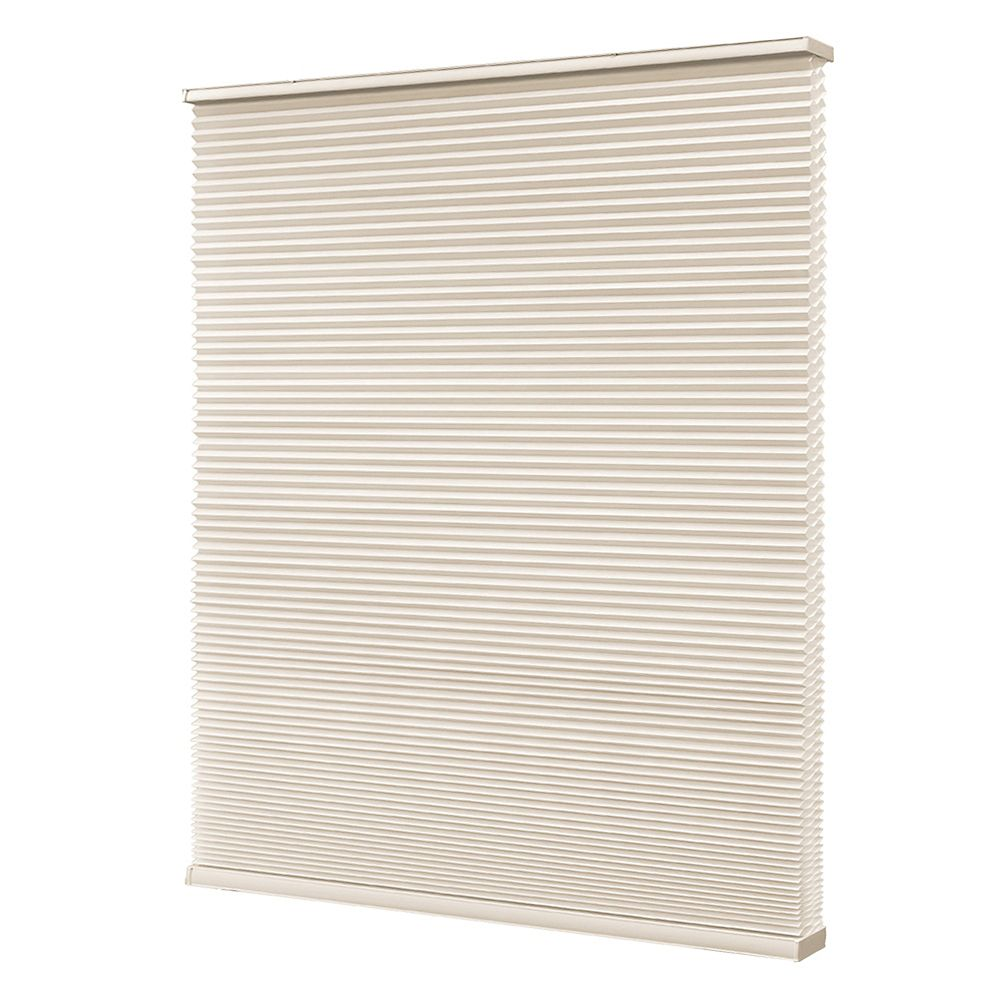 Home Decorators Collection Store à double alvéole sans cordon, Blanc Fromage, 58cmx122cm (Largeur réelle 57cm)