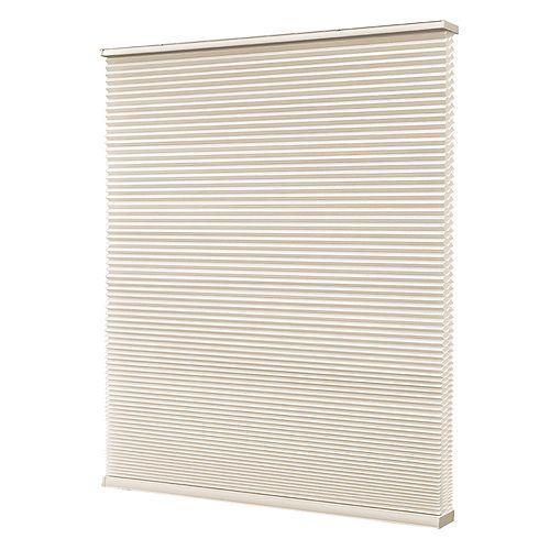 Home Decorators Collection Store à double alvéole sans cordon, Blanc Fromage, 58cmx122cm (Largeur réelle 57cm)