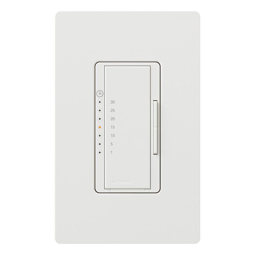 Countdown Digital Eco Timer White, Bathroom Fan Timer Switch Home Depot