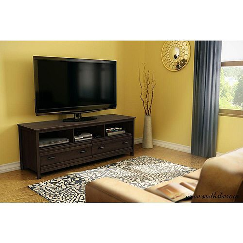 Exhibit 59.5-inch x 22.25-inch x 19.5-inch TV Stand in Brown