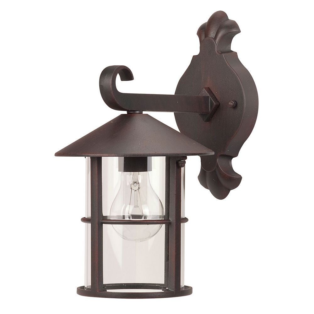 Hampton Bay Camille, luminaire de 13,1'', montage vers le bas, fini bronze, verre clair, 1 x A19/60 W (non incluse)