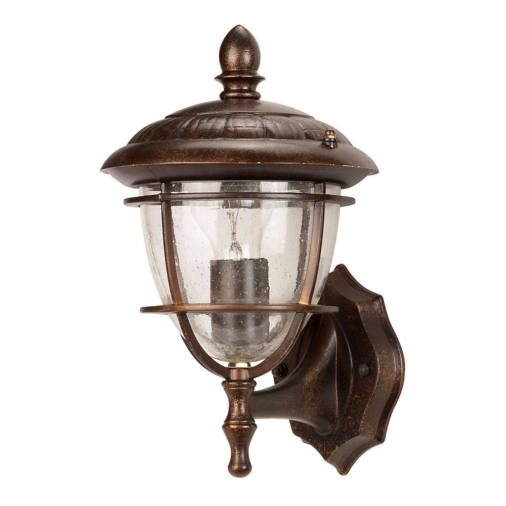 Hampton Bay Allegro, luminaire de 12'', montage vers le haut, bronze antique, verre bullé, A19 60 W (non incluse)