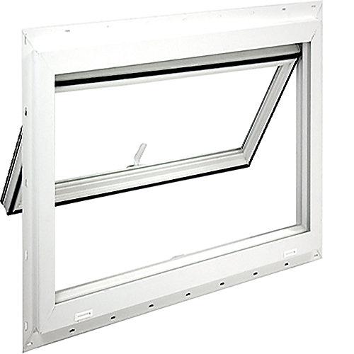 40 inch X 22 1/2 inch Full vent inswing, top hinged basement window, Dual Low E, argon