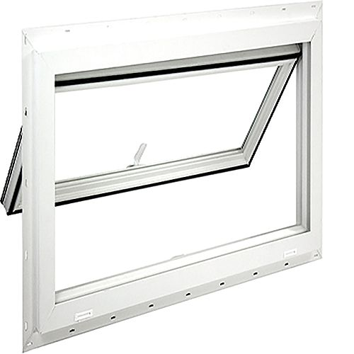 40 inch X 22 1/2 inch Full vent inswing, top hinged basement window, Dual Low E, argon