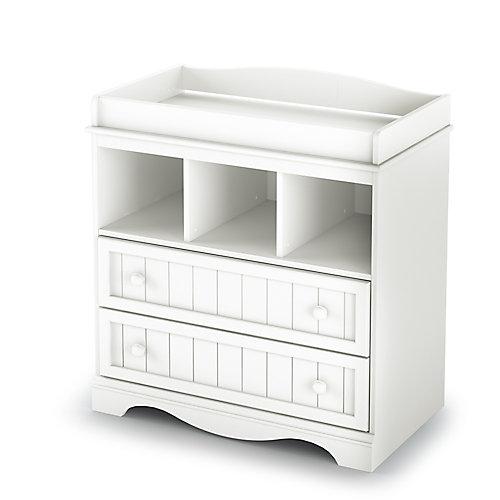 Table à langer Savannah, Blanc solide