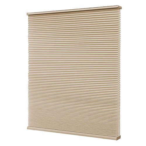 Home Decorators Collection 36-inch W x 72-inch L, Blackout Cordless Cellular Shade in Sahara Tan
