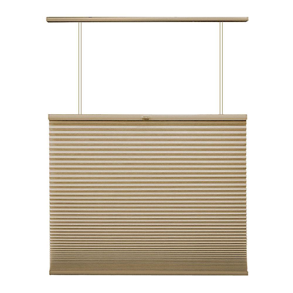 Home Decorators Collection 23 po x 48 po, Stores Cellulaires Ascendant/Descendant Filtre de Lumière Sans Fil Beige Sandstone