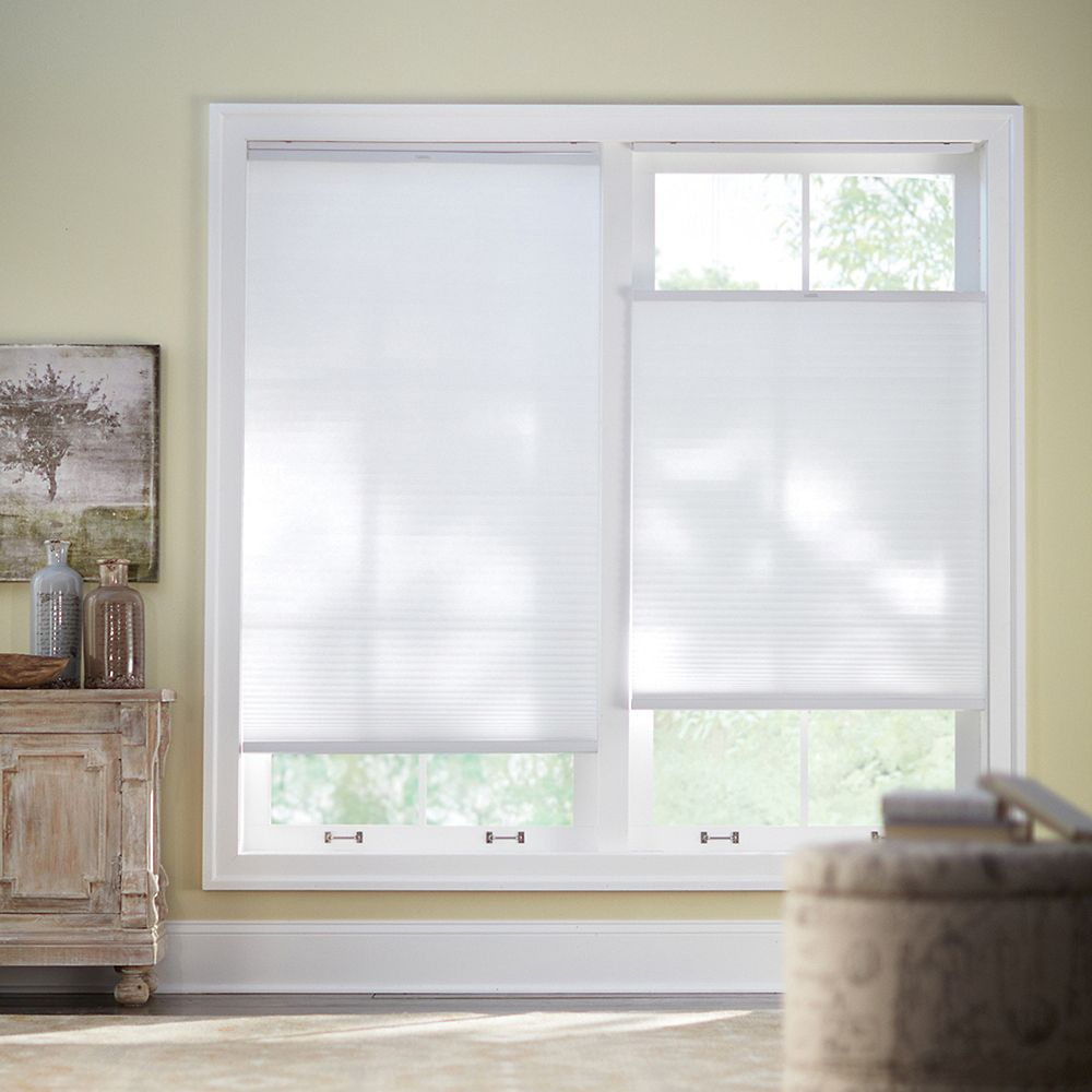 Home Decorators Collection Cordless Top Down Bottom Up Cellular Shade Snow Drift 27 Inch X The Home Depot Canada