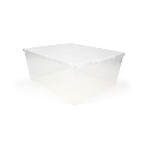 Boîte tout usage, 19,4 L, transparente