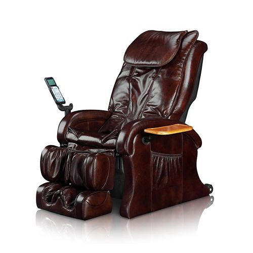 Therapeutic Massage Chair - Brown Leather