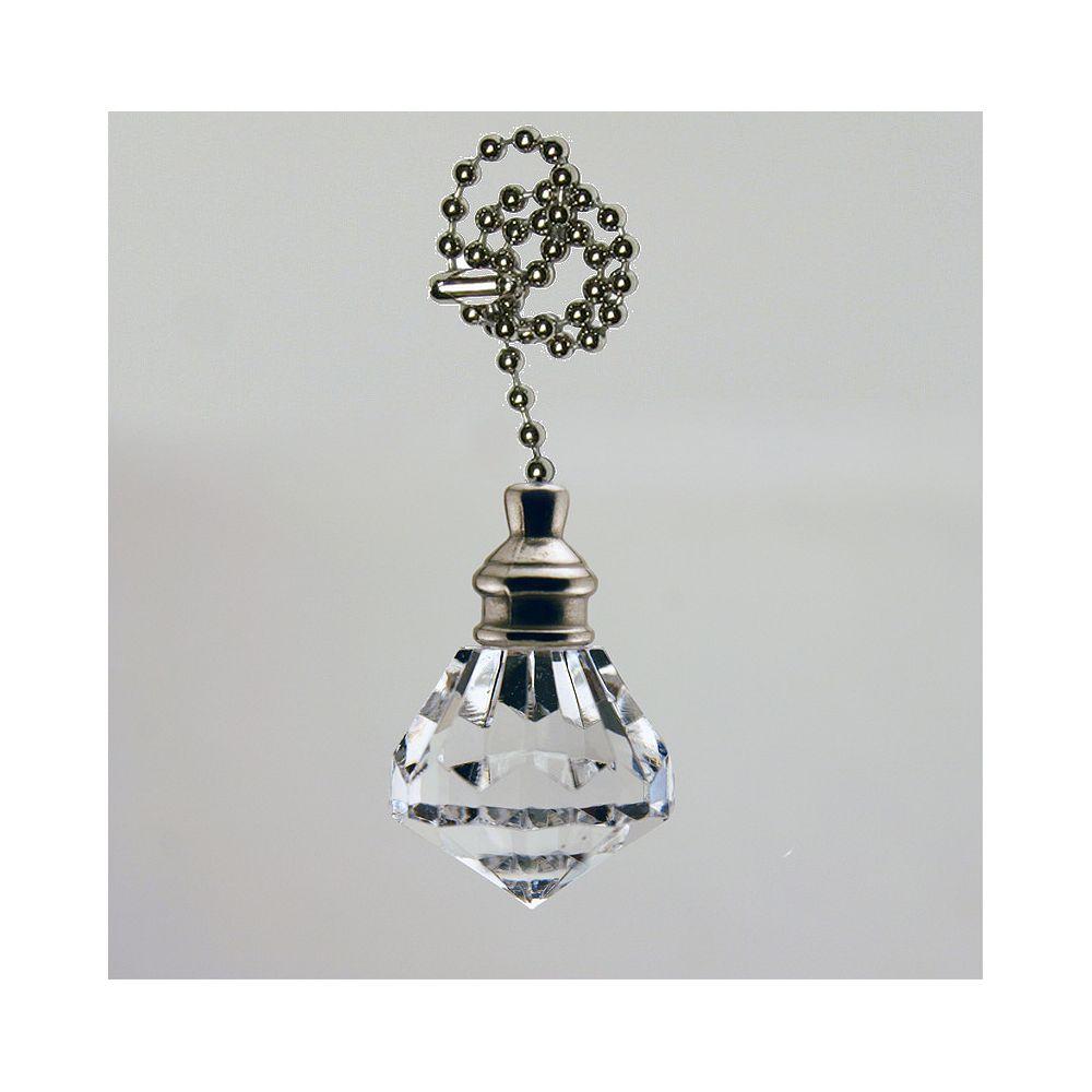 Atron Cristal Pullchain avec chaîne Chrome perlées