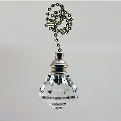 Cristal Pullchain avec chaîne Chrome perlées