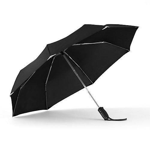 Parapluie WalkSafe avec tissu réfléchissant à ouverture et fermeture automatiques