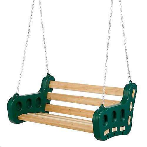 Playstar Contoured Playground 2-Person 48-inch W Leisure Swing with Chain