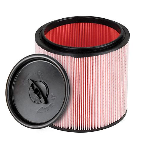 Filtre à cartouche pour poussières fines et dispositif de retenue